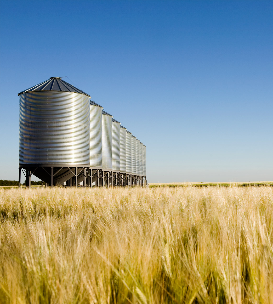 photo of grain silos