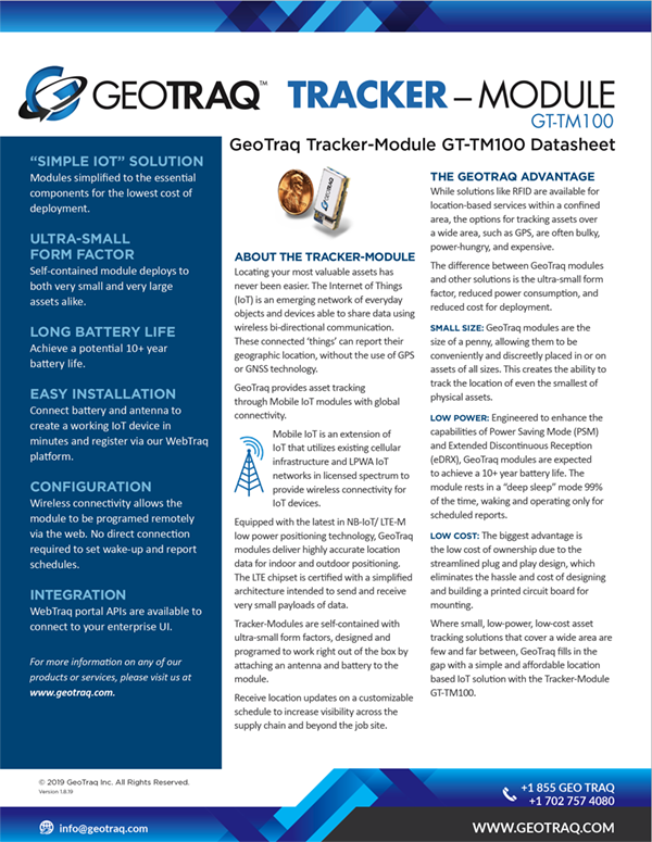 Tracker Module Data Sheet image